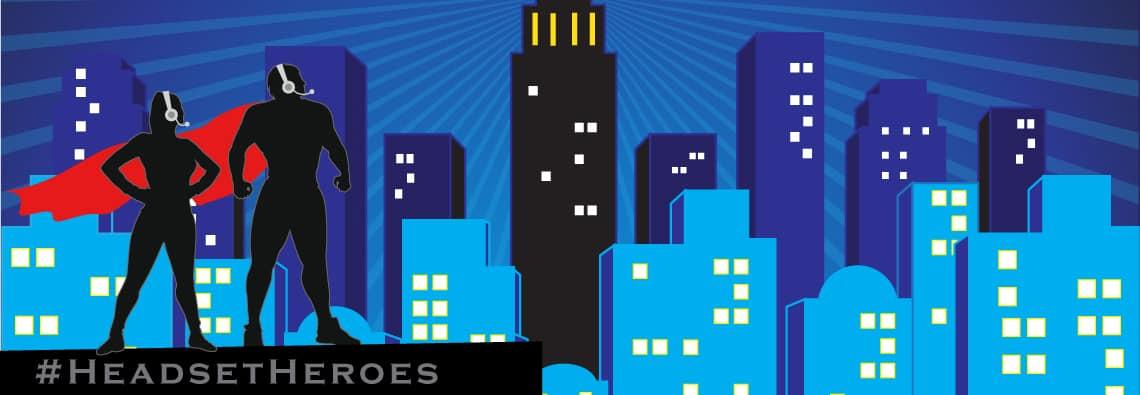 national public safety telecommunications week npstw header headset Heroes Evans